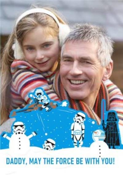 Star Wars May The Force Be With You Photo Upload Christmas Card