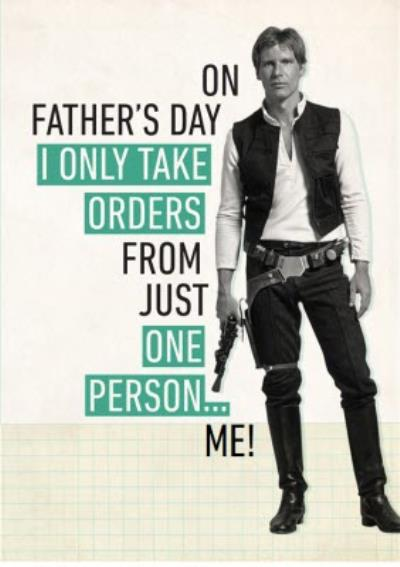 Star Wars Fathers Day Orders Card