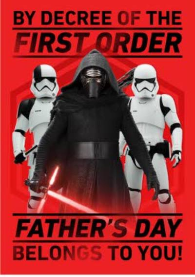 Star Wars Fathers Day Belongs To You Card