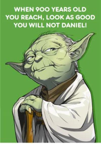 Birthday card - star wars - yoda