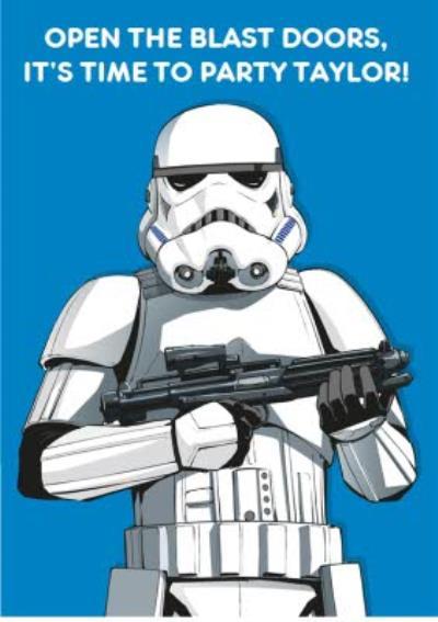 Birthday card - star wars - storm trooper