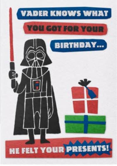 Birthday card - Star Wars - Darth Vader