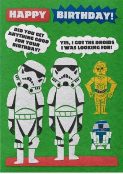 Birthday card - Star Wars - Stormtroopers - droids