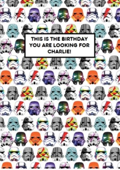 Birthday card - Star Wars