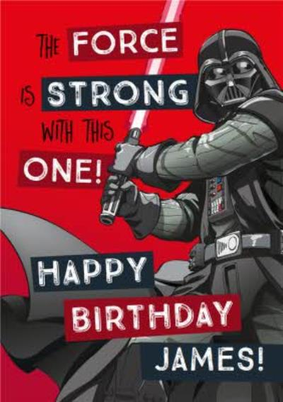 Star Wars Birthday card - Darth Vader