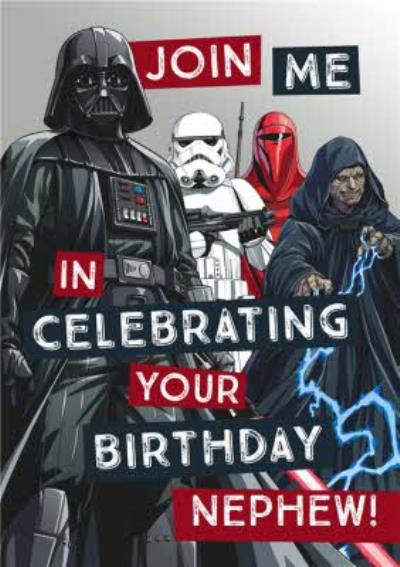 Star Wars Nephew Birthday card - Sith - Darth Vader