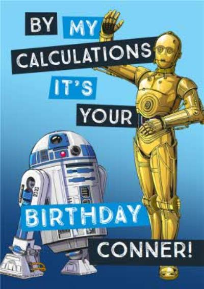 Star Wars Birthday card - R2D2 - C3PO