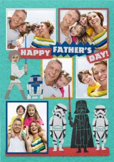 Star Wars Cartoon Characters Happy Father's Day Multi-Photo Card