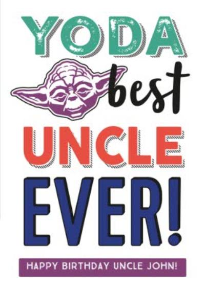 Star Wars Birthday Card - Yoda best uncle ever!
