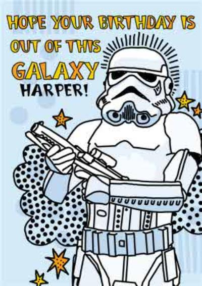 Disney Star Wars Stormtrooper out of this galaxy kids Birthday card