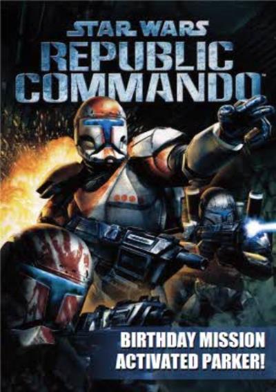 Star Wars Retro Republic Commando Gaming Birthday Card