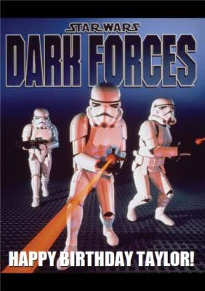 Star Wars Retro Clones Dark Forces Gaming Birthday Card