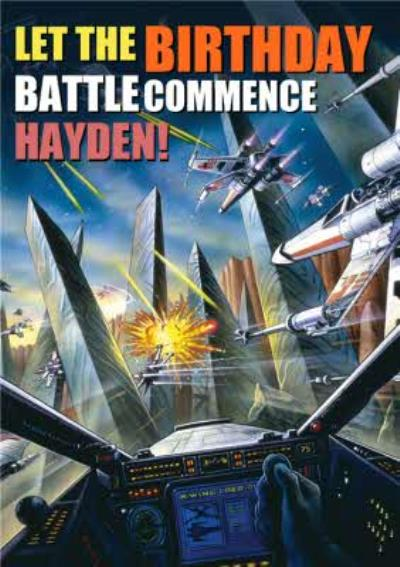 Star Wars Retro Let The Battle Commence Birthday Card