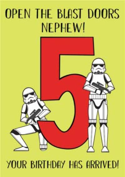 Star Wars Open The Blast Doors Your Birthday Has Arrived Card