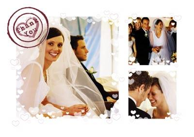 Personalised Multi-Photo Heart Wedding Thank You Card