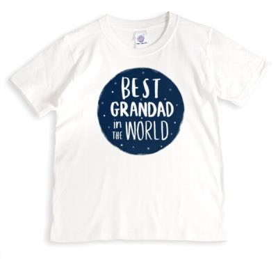 Best Grandad In The World White T-Shirt