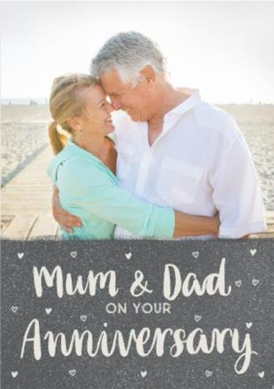 Sweet Sentiments Mum Dad Anniversary Photo Upload Postcard