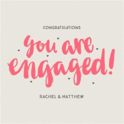 You Are Engaged Personalised Text Card