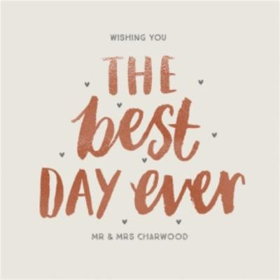 Wishing You The Best Day Personalised Text Card
