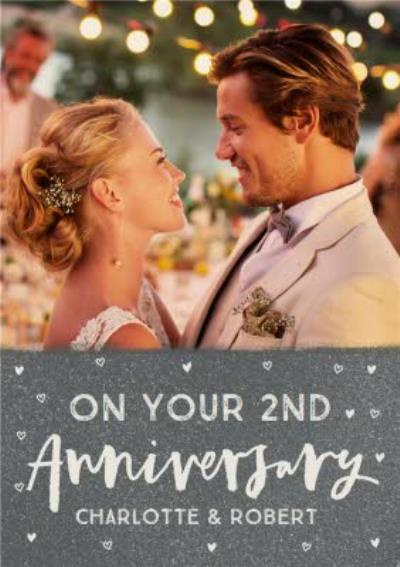 On your second Anniversary photo upload card - 2nd Anniversary