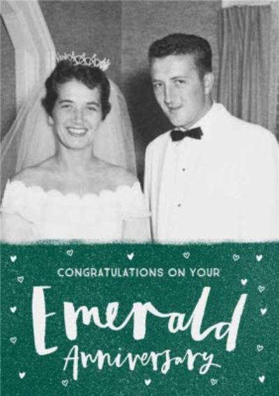 Congratulations on your Emerald Anniversary photo upload card - 55th Anniversary