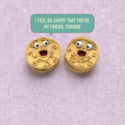 Jammy Dodgers Personalised Friendship Card