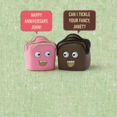Chocolate Truffles Can I Tickle Your Fancy Personalised Anniversary Card