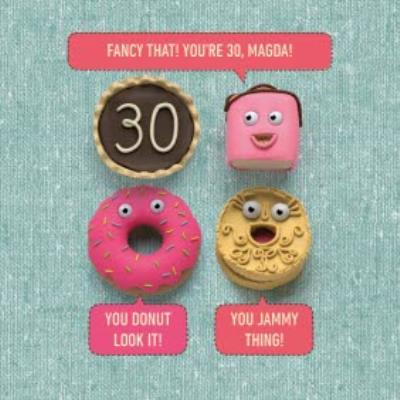 Cake Jokes Personalised Happy 30th Birthday Card