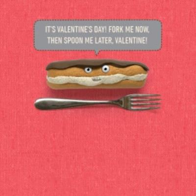 Spoon Me Later Funny Personalised Happy Valentine's Day Card