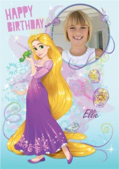 Disney Tangled Rapunzel Happy Birthday Photo Card Moonpig