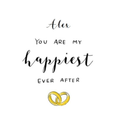 Happiest Ever After Wedding Card