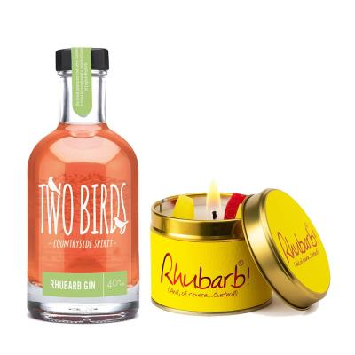Two Birds Rhubarb Gin & Forever Friends Candle