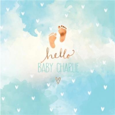 New baby - Mordern - Hello - Baby boy footprints