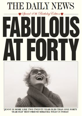 Fabulous At Forty Birthday Card