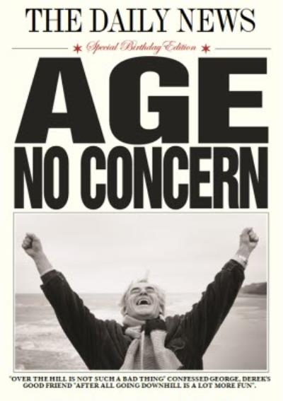 The Daily News Age No Concern Personalised Birthday Card