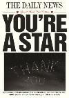 The Daily News You're A Star Personalised Thank You Card