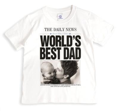 Father's Day Newspaper Photo Upload T-shirt