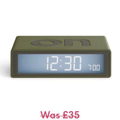 Lexon On/Off Flip Alarm Clock