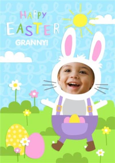 Face Upload Happy Easter Granny Card