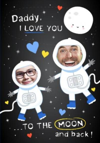 Love You To The Moon and Back Personalised Photo Card