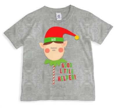 Merry Christmas Elf Helper 1 Photo Upload T-shirt