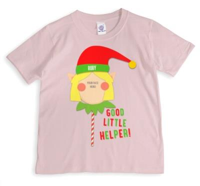 Merry Christmas Elf Helper 3 Photo Upload T-shirt