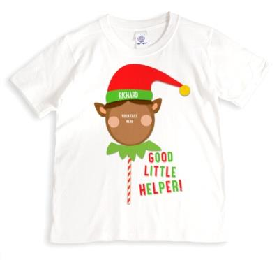 Merry Christmas Elf Helper 2 Photo Upload T-shirt