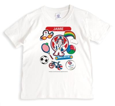 Team GB Believe In Extraordinary Lion Personalised Tshirt