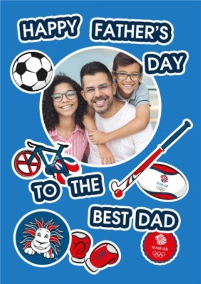 Team GB A Happy Fathers Day Photo Upload Card