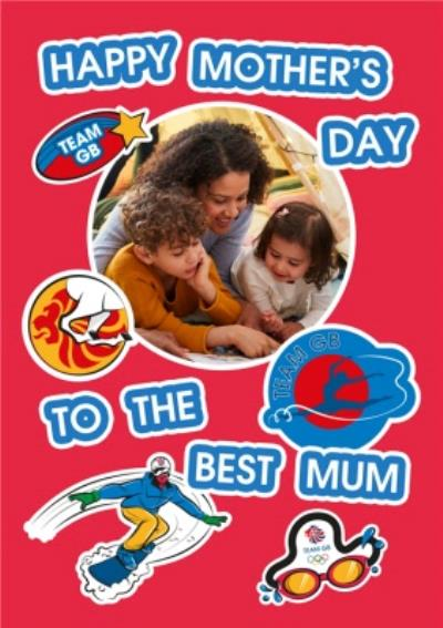 Team GB A Happy Mothers Day Photo Upload Card
