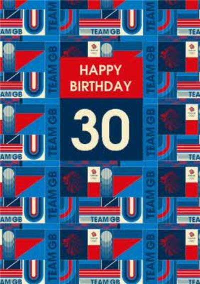 Team GB Patterned Birthday Card