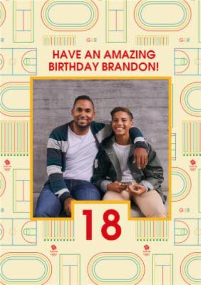 Team GB Olympics Photo Upload Birthday Card