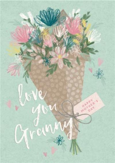 Illustrated Flower Bouquet Love You Granny Mother's Day Card