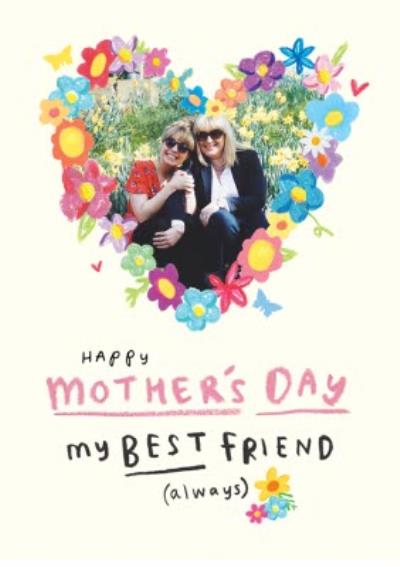 Mothers Day Best Friend Photo Upload Card